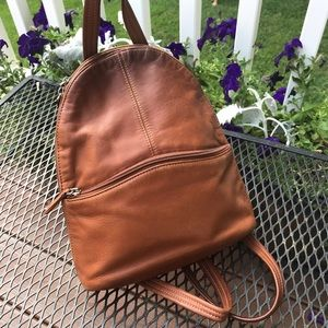 Tignanello cognac leather backpack